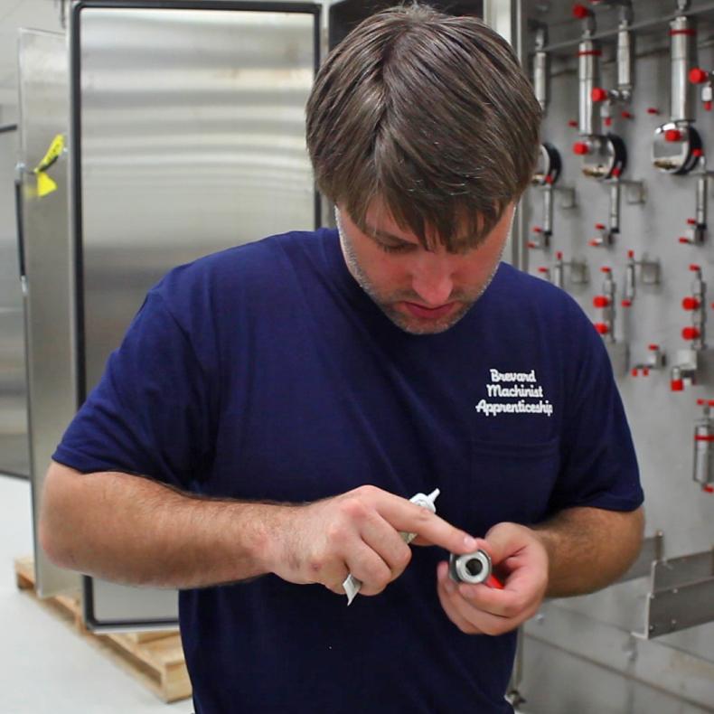 Brevard Machinist Apprenticeship person working